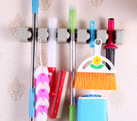 Discount mops brushes - New Plastic 5 Position Broom Mop Laundry Bar Clean Ball Laundry Brush Holder Tool
