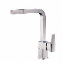 Wholesale double sink kitchen faucet - Brass Pull Out Kitchen Faucet Sink Mixer Tap Single handle Double Control Deck Mounted Hot And Cold Water Taps Chrome Finish