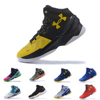 Wholesale cotton feet - Under armour UA Curry 2 men basketball shoes BHM Final Athletic Sports Sneakers Cushion trainers Cushion On Foot
