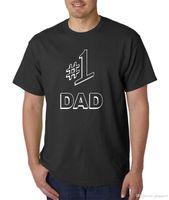 número do dia venda por atacado-# 1 T-shirt do PAIZINHO - estilo engraçado de Jerry SEINFELD T engraçado do número um do presente de pais LOL! Camisa de manga curta de algodão simples
