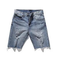 dc4e707ec5b9 Kaufen Sie im Großhandel Schwarze Beunruhigte Jeans-shorts 2019 zum ...