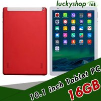 Wholesale tablet red 1gb - 10.1-inch tablet PC IPS Android 6.0 3G MTK6592 quad-core Real 1GB+16GB DHL Fast Shipping 10pcs
