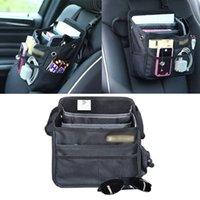Wholesale Wall Hanging Storage Pockets - Auto Car Front Back Seat Pockets Organizer Multi Pocket Storage Bag Cover car Seat Back Box Organizer Holder GGA91 5PCS