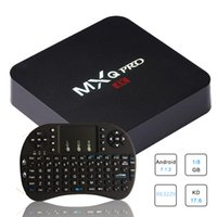 Wholesale android tv fly mouse for sale - MXQ PRO Android TV BOX RK3229 Android RII I8 G Fly Air Mouse Keyboard