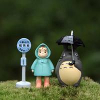 ingrosso mini figurine-Kawaii My Neighbor Totoro Action Figure Hayao Miyazaki Mini Figurine Giocattoli Giapponese Carino Anime Toy Figure Ornamenti di giardinaggio