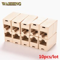 Wholesale cat 5e extender - 10pcs lot Cable Joiner RJ45 Adapter Network Ethernet Lan Coupler Connector CAT 5 5E Extender Plug HY194