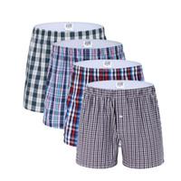 9d1e02f15c 3 Pack Classic Plaid Hommes Boxer Shorts Sous-vêtements Hommes Trunks Coton  Boxers Sous-vêtements pour hommes Tissé Homme Boxer Arrow Culotte