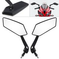 universal-motorrad-rückspiegel großhandel-2pcs 10mm modifizierte überzogene Universalmotorradrückspiegel-Seitenspiegel für Motorrad MFF_20L