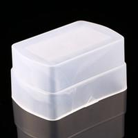 yn flash großhandel-Blitzdiffusor Softbox für 580EX YONGNUO YN-560 YN560II YN-560III YN-560IV Blitzdiffusor Abdeckung Farbe Weiß