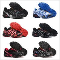 лучшие кроссовки для бега трусцой оптовых-Salomon 2018 Мужская Speedcross 3 Trail лучшее качество мужчины Красный открытый кроссовки бег трусцой спортивные кроссовки для прогулок на открытом воздухе 29 цветов