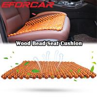 almofadas frescas de verão venda por atacado-Almofada Do Assento de carro para o Verão Fresco Assento Almofada Auto Veículo Almofadas De Madeira Natural para o Sofá Cadeira Do Carro