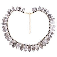 Wholesale handmade beaded necklaces for women - Handmade beaded necklace Bohemia Alloy crystal Woven Clavicular chain resin necklace for women jewelry 2018 new Pendant Necklaces wholesale