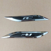 vw b6 passat aufkleber großhandel-R-linie Rline Blade Side Fender Abzeichen Emblem Aufkleber Aufkleber für VW Golf MK4 6 7 Polo 6r 9 n Tiguan Jetta Scirocco Passat B5 B6 B7