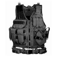 uniformes tácticos al por mayor-Chaleco táctico de caza Wargame Body Armor Chaleco de caza CS Chaleco de uniforme táctico para exteriores Molle Jungle Equipment 6 colores K004