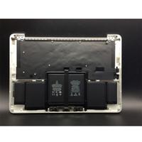 trackpad portátil al por mayor-Producto Original Accesorios para Laptop Teclado + Trackpad + Batería para MacBook A1502 Top Case Palmrest 2015 Año 13.3 Pulgada