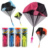 Wholesale multi color hand bag - NEW Hand Throwing Kids Mini Play Parachute Toy Soldier Outdoor Sports Children's Educational Toys Outdoor Toys Candy Color OTH884