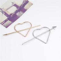 Wholesale fashion hair fork for sale - Punk Arrow Heart Hairpin Clip Women Hair Fork Stick Fashion Hair Accessories H5004