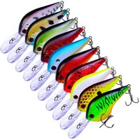 Wholesale 10 color cm g Crank Plastic Hard Baits Lures Fishing Hooks Fishhooks Hook Artificial Bait Pesca Fishing Tackle Accessories