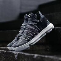 Wholesale Kd Boots - 2018 New Kevin Durant X Zoom KD 10 Anniversay PE Elite FMVP Oreo Mens Basketball Running Designer Shoes Trainers Sneakers