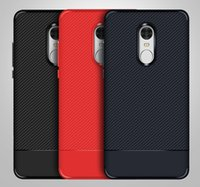 xiaomi tpu davası toptan satış-Karbon Fiber Kılıf Xiaomi Redmi için Not 4x İnce TPU Kılıf Redmi Not 4x Anti Bırak 3 Renkler
