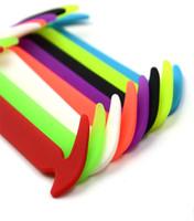 Wholesale shoelace ties online - Sickle Shape No Tie Shoelace Special For Men Women Lacing Shoes Rubber With Multi Color Elastic Silicone Originality Shoelaces ls jj