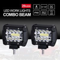 Wholesale Led Fog Lights Square - LED Town 2pcs 4'' 120W LED Work Light Off Road Driving Lights Spot Flood Fog Lights Waterproof LED Cubes for Truck Jeep