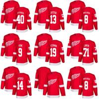 Wholesale Full Wing - 2018 season Detroit Red Wings Steve Yzerman Dylan Larkin Henrik Zetterberg Gordie Howe Steve Yzermanhockey Jersey home red