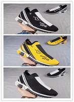 Wholesale womens black cotton socks - 2018 Sorrento Trainer Chunky Sneakers Gabbana Mens Womens Knitted Set Jogging Shoes Black Yellow Boost Socks Graffiti Printed Shoes