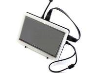 himbeer-pi-touch großhandel-Waveshare 7 Zoll HDMI LCD (B) + Bicolor-Gehäuse Kapazitive Touchscreen-Anzeige für Raspberry Pi Banana Pi BB Schwarzer Computermonitor