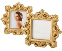 Wholesale baroque photo frame wedding resale online - Golden Baroque Small Photo Frame Wedding Ceremony Mini Gift Baby Picture Frames Birthday Party Favor Hot Sale yk gg
