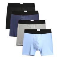 Wholesale clear panties - Eur US Boxer Shorts L-3XL Ultra-large Cotton Mens Underwear Breathable Boxers High Waist Panties