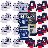 Wholesale multi c - Leafs Captain C Patch 91 John Tavares Jersey Mitchell Marner William Nylander Capitals Alex Ovechkin T.J. Oshie 2018 Stadium Series Jerseys