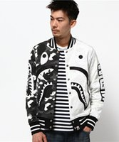 Wholesale ape clothing - New Brand APE Sweatershirt WITH Cotton HIGH Quality Justin Bieber HIP HOP Men's Clothing Kanye West Printing Shark Pablo Hot Cheap Sale