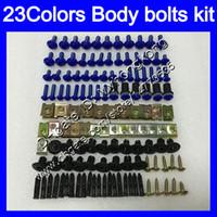 Wholesale Kawasaki 12 - Fairing bolts full screw kit For KAWASAKI NINJA Z1000 03 04 05 06 07 08 09 10 11 12 13 KZ1000 03-13 Body Nuts screws nut bolt kit 23Colors