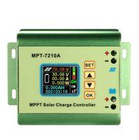 temperatura de carregamento da bateria venda por atacado-Freeshiping MPPT Painel Solar Controlador de Bateria Regulador de Carga com Display LCD Colorido 24/36/48/60/210 V 10A com Função de Carga de Impulso DC-DC
