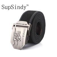 Wholesale tactical belt buckles wholesale - SupSindy men's canvas belt NAVY SEAL metal buckle  belt Army tactical belts for Male top quality men strap Black strips
