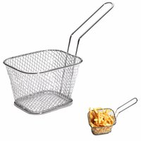 Wholesale high quality kitchen tools online - Mini Fry Baskets Kitchen Cooking Tool Metal French Fries Basket Strainers High Quality br C R