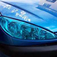 Wholesale color changing car tint for sale - Group buy 30cm x cm Auto Car Light Headlight Taillight Tint Vinyl Film Sticker Sheet Light Black Car Light Color Changing Sticker