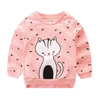 Wholesale free baby clothes for sale - Animals Appliqued Baby Girl Clothing Designer Girl Thisrts Autumn Spring Kids Sweatshirts
