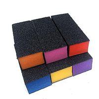 siyah tırnak tamponu toptan satış-100 adet / grup siyah Zımpara blok mix renk duymak kalp Parlatıcı Zımpara Tampon Dosyaları Blok Akrilik Nail Art Manikür Seti