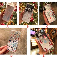 Wholesale santa christmas silicone case for sale - Group buy Snowflake Glitter Quicksand Christmas Phone Case for iPhone X s Plus case Xmas tree Santa Claus soft silicone Transparent Cover gifts