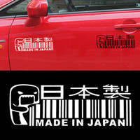 Wholesale japan stickers car for sale - 1 White Black Car Sticker MADE IN JAPAN Car Sticker Window Bumper JDM DRIFT Barcode Vinyl Decal Car Styling