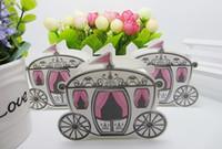 avrupa arabası şekerleme kutusu toptan satış-Kraliyet Arabası Tasarım Şeker Kutusu Avrupa Peri Romantik Şeker Hediye Kutuları Vaka Düğün Malzemeleri Parti Favor
