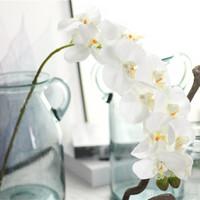 ingrosso spedizione di fiori artificiali-8 pz fiore artificiale seta farfalla fiore orchidea casa festa nuziale decorativa phalaenopsis decorazione artificiale spedizione gratuita