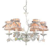 candelabros vintage al por mayor-Regron Vintage Araña de iluminación Led Butterfly Fabric Arañas Lustre Estilo francés Art Deco Lámpara colgante Lámpara Sala de estar