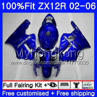 Wholesale zx12r red fairing for sale - Group buy Injection For KAWASAKI NINJA ZX1200 ZX R Red flames hot HM ZX R R CC ZX12R Fairing