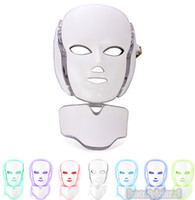 Wholesale Personal Masks - PDT Light Therapy LED Facial Mask With 7 Photon Colors For Face And Neck Skin Rejuvenation LED Face Mask With Microcurrent Personal Home Use