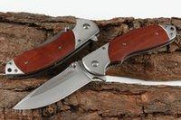 satin en bois achat en gros de-Nouveau CM89 Assisté Rapide Ouvert Couteau Pliant 440C Lame Satin Poignée En Bois Survie Extérieure Tactique Couteaux Pliants EDC Vitesse