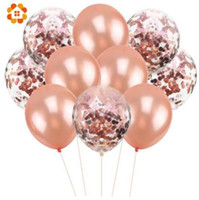 balão de hélio de casamento venda por atacado-10 Pçs / lote 12 polegadas Confetti Balões de Ar Balões de Festa de Aniversário Feliz Hélio Balão Decorações Balões De Casamento Fontes Do Partido