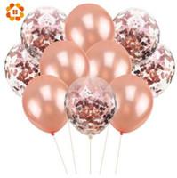 şişirilebilir tezahürat balonları toptan satış-10 Adet / grup 12 inç Konfeti Hava Balonları Mutlu Doğum Günü Partisi Balonlar Helyum Balon Süslemeleri Düğün Balonlar Parti Malzemeleri